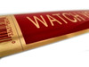 """2"""" X 9"""" Red Self Adhesive """"WATCH YOUR STEP"""" Sign"""