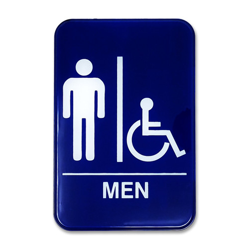 "6"" W x 9"" H Men's Accessible Restroom Sign"