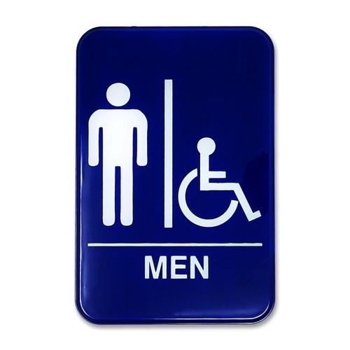 "6"" W x 9"" H Men's Accessible Restroom Sign"