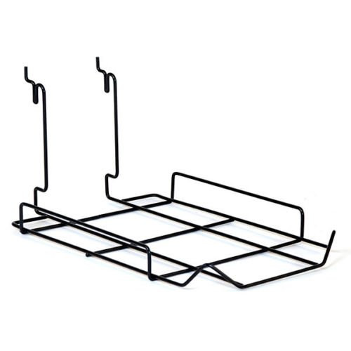 Black 10 Cap Display - Hat Rack for Slatwall, Gridwall or Pegboard