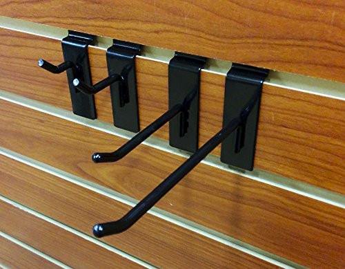 Multiple Size Black Slatwall Hooks - Bundle Pack