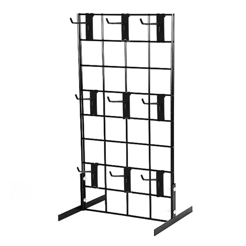 "Counter Top Gridwall Display Unit w/ 9 - 4"" D Hooks"