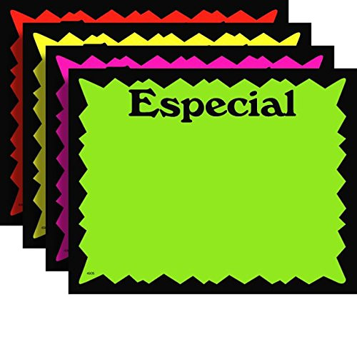 """3.5"""" x 5.5"""" Fluorescente ESPECIAL Signos De Tienda - 100 Pack"""