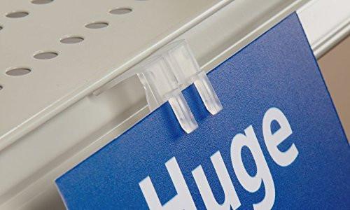 Gondola Shelving Ticket Channel Sign Holder, Clip on Sign Grip for Shelf