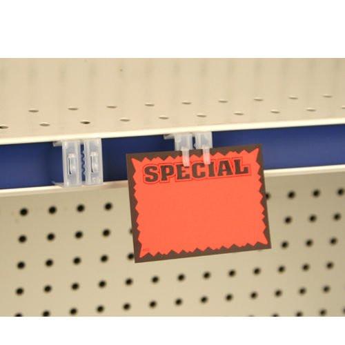 Gondola Ticket Channel Sign Holder, Clip on Shelf Sign Grip