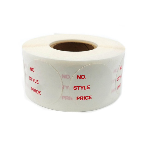 """1"""" Round Self Adhesive No, Style, Price Labels"""