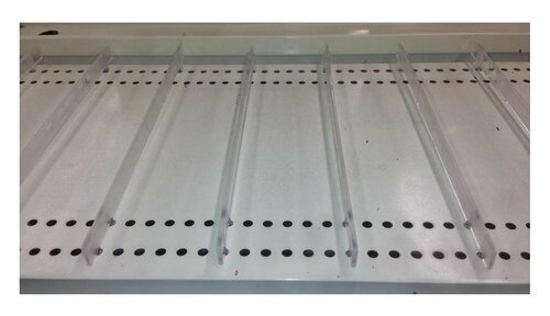 "Plastic Gondola Shelf Dividers for Shelves Up to 16"" D"