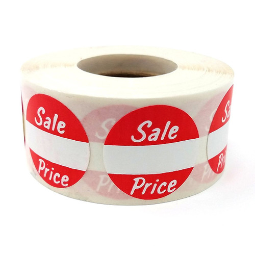 """1"""" Round Sale Price Adhesive Labels"""