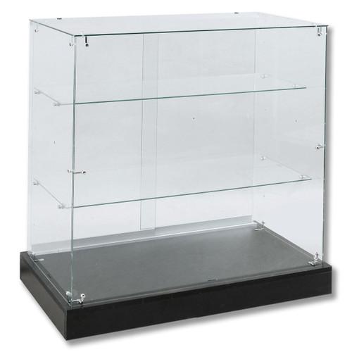 Frameless Full Vision Economy Tempered Glass Showcase