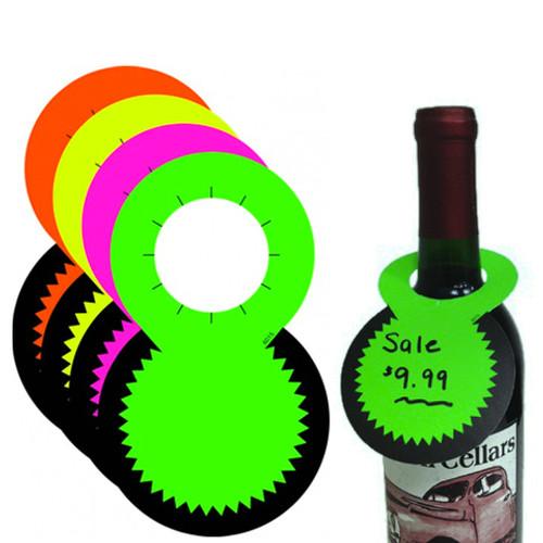 Fluorescent Bottle Neck Sale Tags
