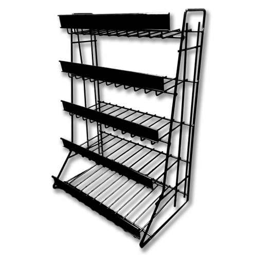 5 Tier Counter Top Snack Rack - Black