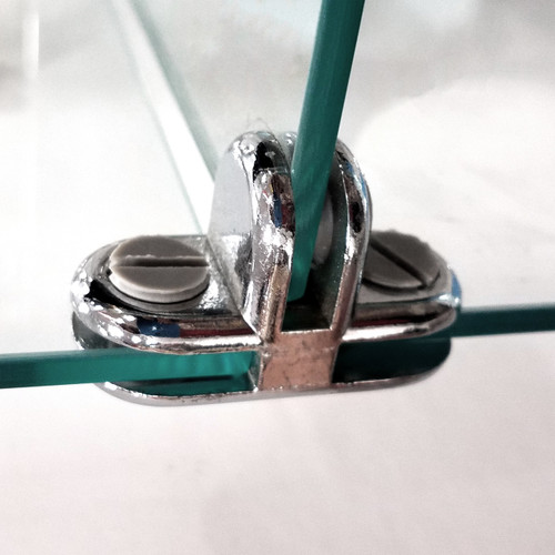 """Glass Cube Connectors for 3/16"""" Thick Tempered Glass"""
