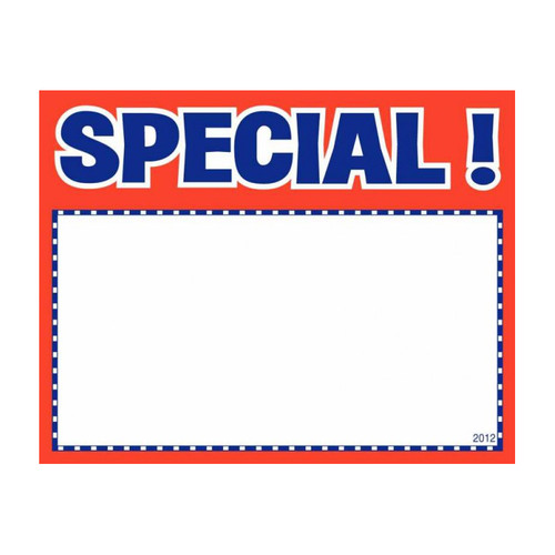 SPECIAL Value Sale Sign Cards - 100 Pack