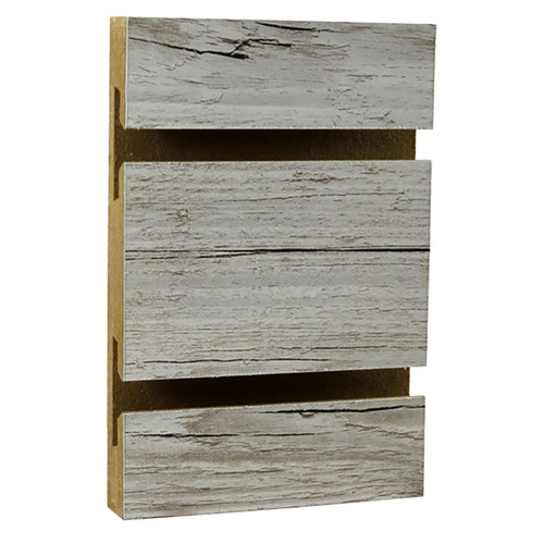 Slatwall Panel - 4' x 8' - Weathered Barnwood