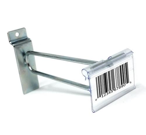 "6"" Zinc Slatwall Flip Up Scanner Hooks with Label Holders"
