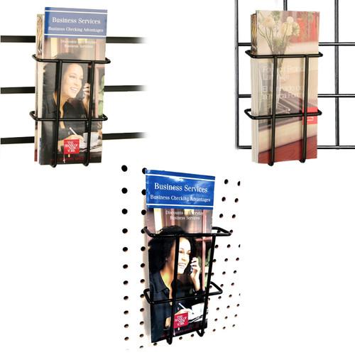 Multi-Fit Tri-Fold Pamphlet Literature Holder, Black