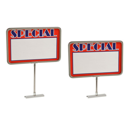 Chrome Magnetic Base Retail Sign Holder