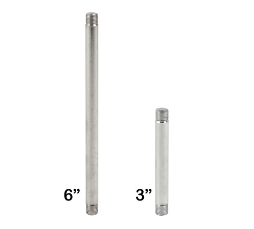 Threaded Stems for Retail Rack Sign Holders, Chrome