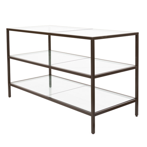 Lena Collection 3 Shelf Merchandising Table with Bronze Frame
