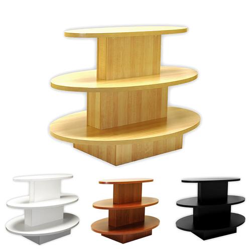 3 Tier Oval Display Table