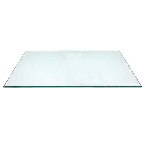 "Rectangular Tempered Glass Shelf Panel, 16"" D"