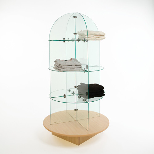 Glass Bullet Display with Base