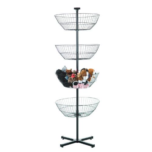 Rotating 4 Tier Basket Dump Bin
