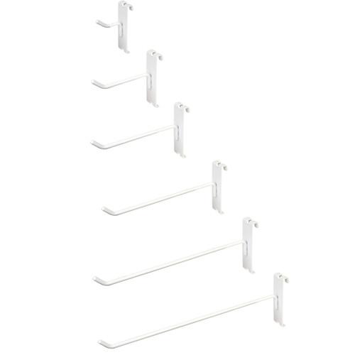 White Gridwall Hooks