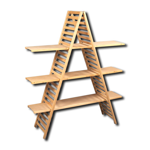 3-Tier A-Frame Wood Display