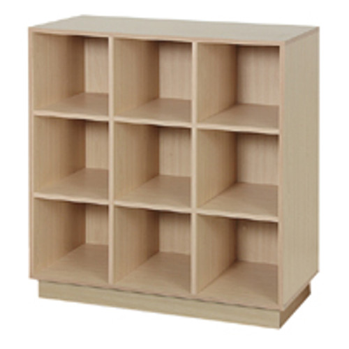 Wood Single Sided 9 Cube Display