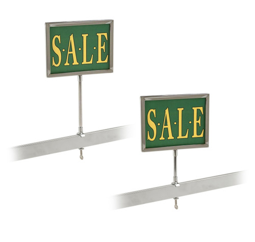 "Universal Retail Rack Sign Holder, 5"" x 7"""