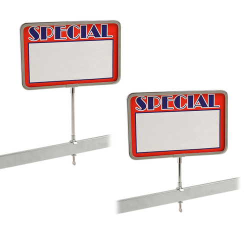 11 H 20 Pack Universal Retail Rack Acrylic Frame Clamp On 7 x 11 Sign Holder Card Display