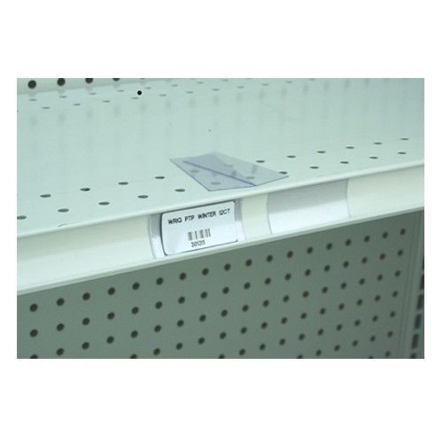 Gondola Shelf Clear Plastic Price Holding Tags