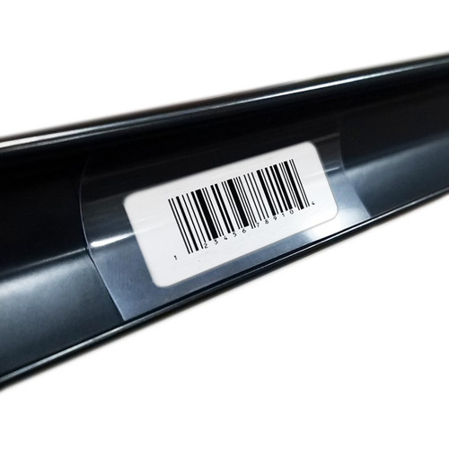 """3"""" Gondola Shelving Ticket Molding Insert Strips with a UPC label."""