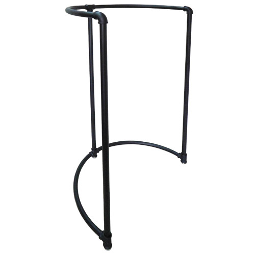 Black Pipe Half Round Circular Rack
