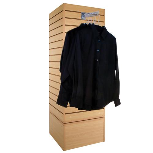 "20"" Rotating Slatwall Cube Merchandiser"