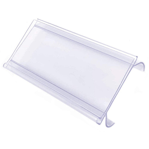 "Wire Shelf Label Holder with Sleeve, 3"" x 1.25"""