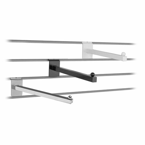 "12"" Slatwall Square Tube Straight Arm Faceout"