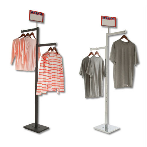 Adjustable 2 Way Rectangular Tube Clothing Rack