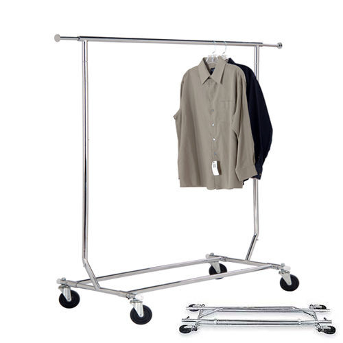 Collapsible Rolling Clothing Rack