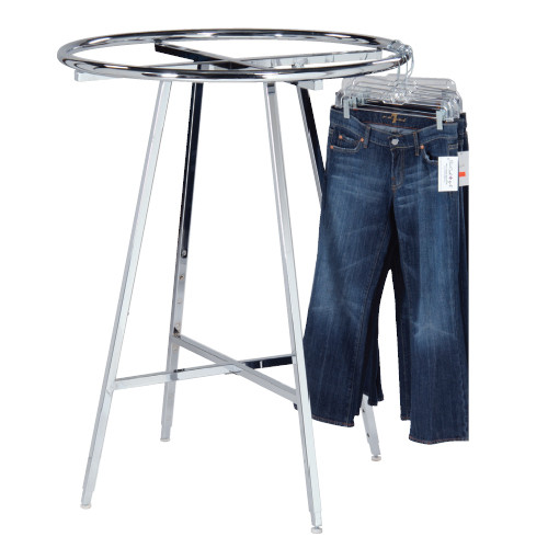 Round Clothing Rack - Chrome or Black