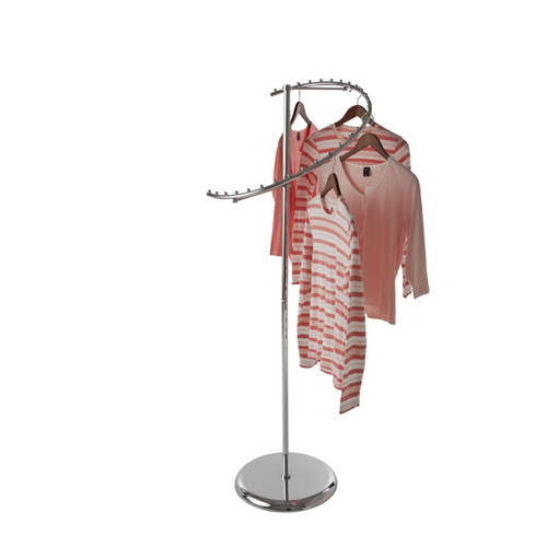 29 Ball Chrome Spiral Clothing Rack