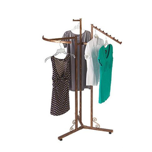 Antique Copper 3 Way Clothing Rack