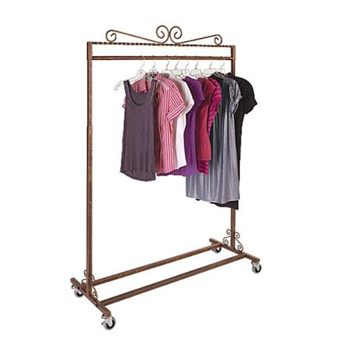 Antique Copper Single Bar Rolling Rack
