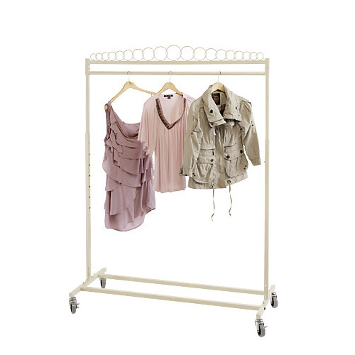 Elegant Pearl Single Bar Rolling Rack