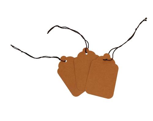 Blank Kraft Strung Merchandise Tags - Brown