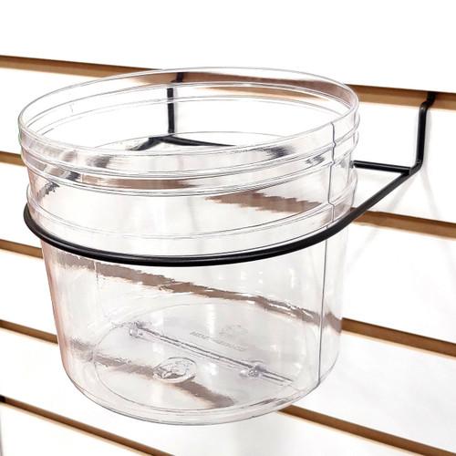 Pegboard & Slatwall Clear Bucket Display