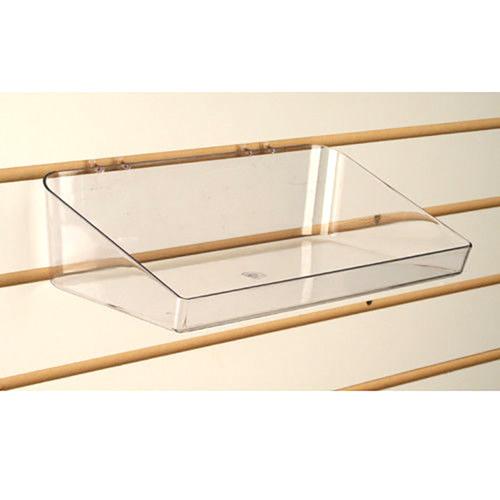 """Pegboard & Slatwall Clear Acrylic Tray Display Bin, 6"""" D x 11"""" L"""