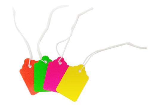 Fluorescent Strung Merchandise Tags