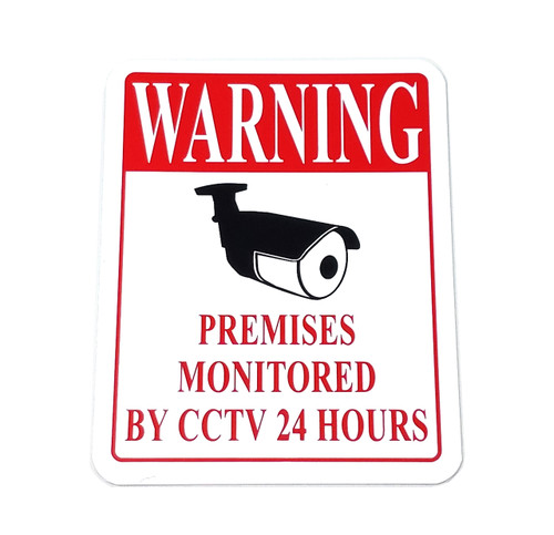 WARNING Premises Monitored By CCTV 24 Hours Business Sign